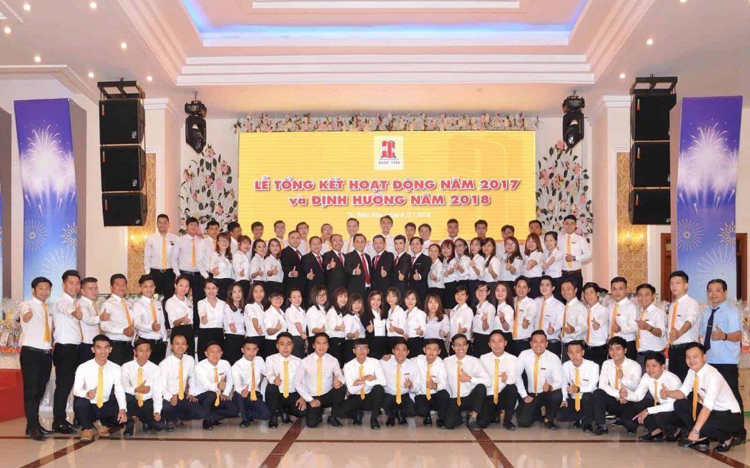 LỄ TỔNG KẾT HOẠT ĐỘNG KINH DOANH 2017  & ĐỊNH HƯỚNG NĂM 2018