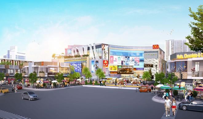 Trung tâm thương mại nằm trong khuôn viên dự án Crystal Central